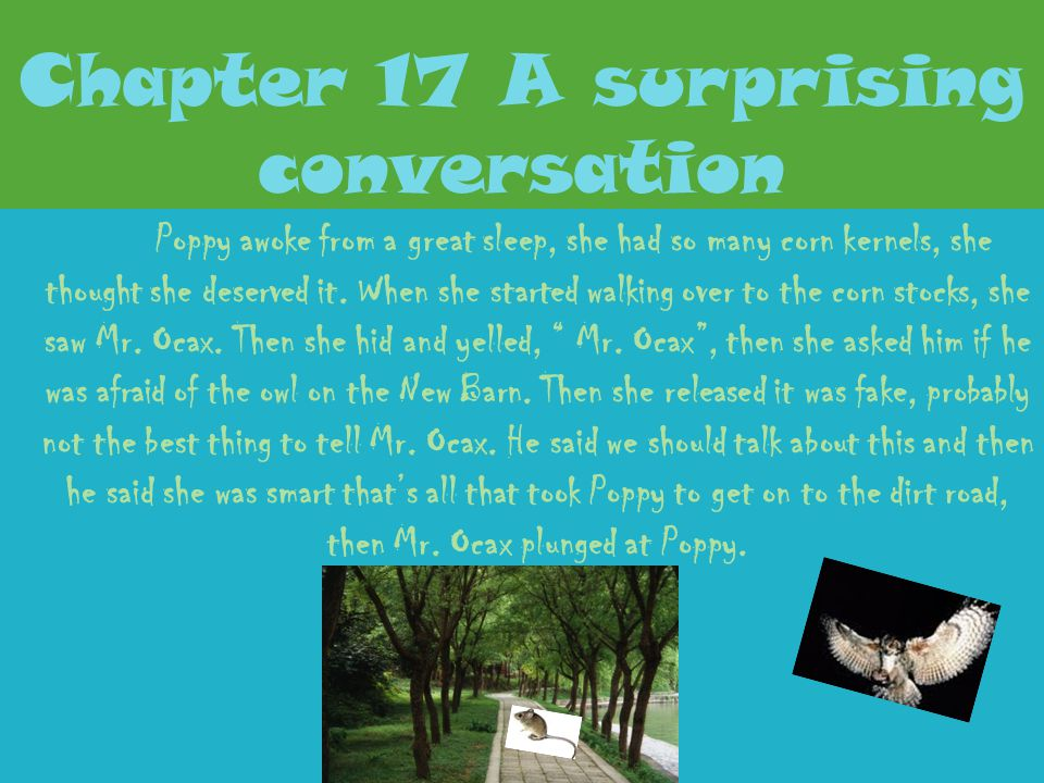 Chapter 17 A surprising conversation