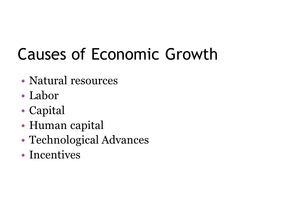 Causes of Economic Growth