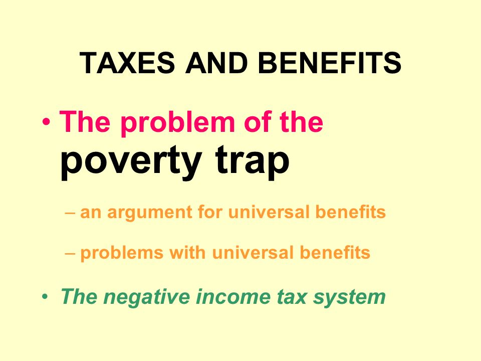 The problem of the poverty trap