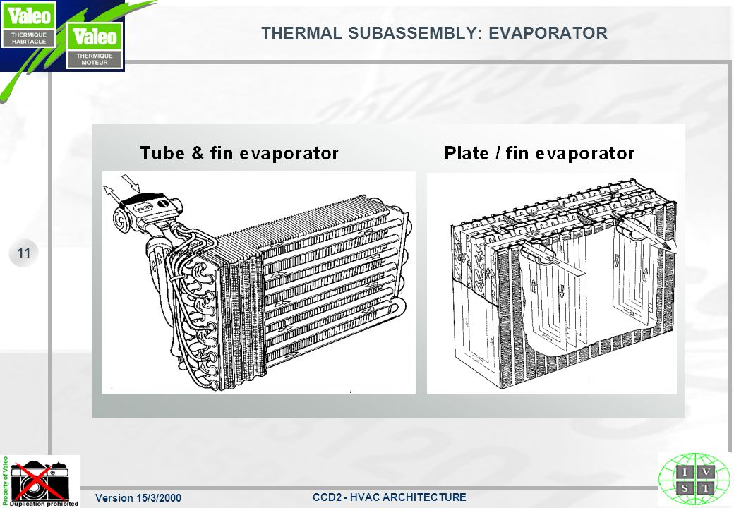 THERMAL SUBASSEMBLY: EVAPORATOR
