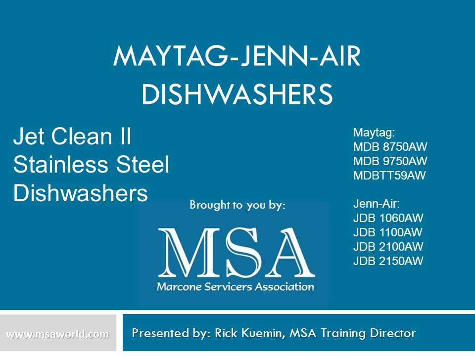 Maytag-Jenn-Air Dishwashers