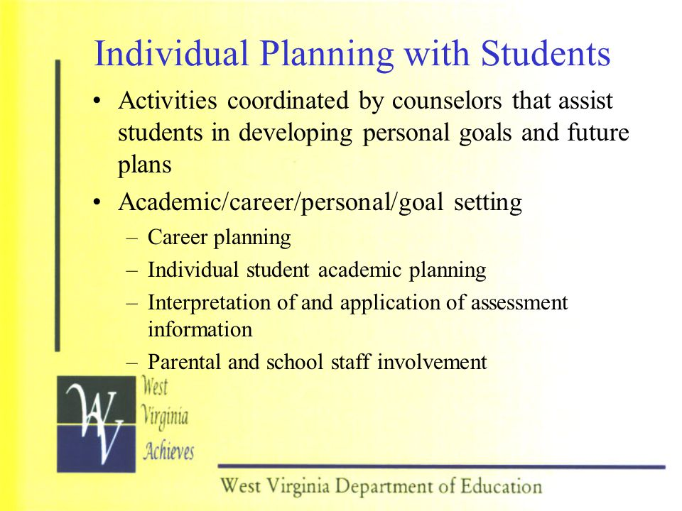 Individual Planning with Students