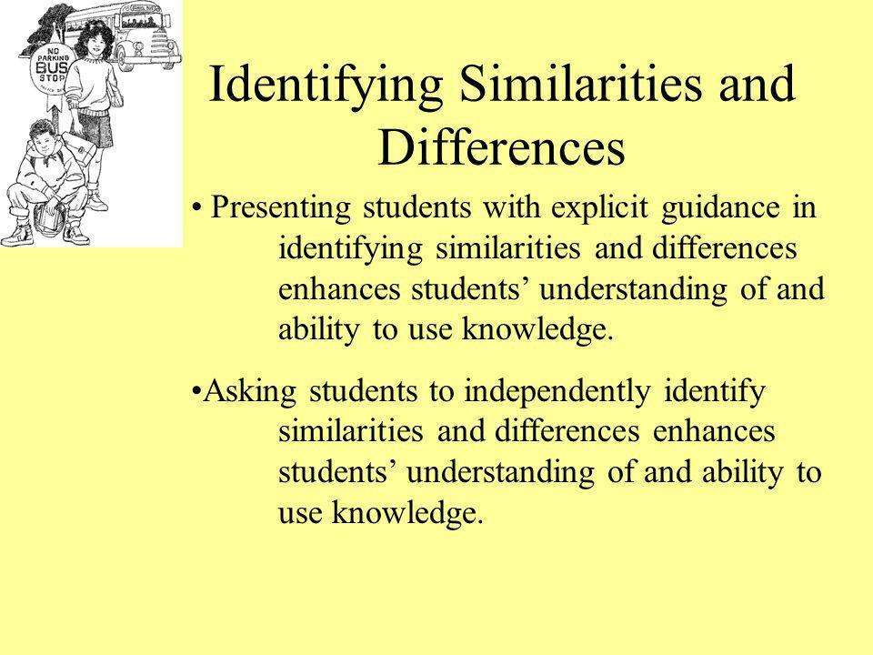 Identifying Similarities and Differences