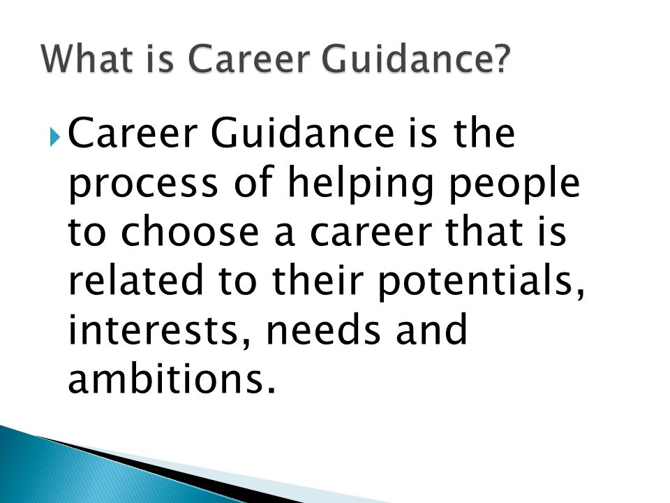 What is Career Guidance