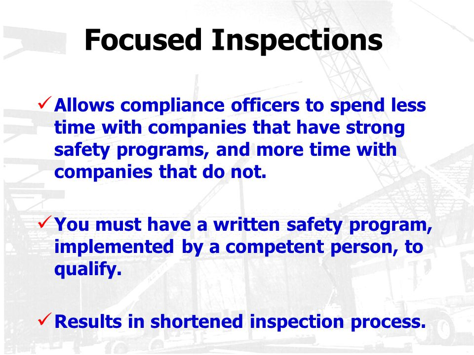 Focused Inspections