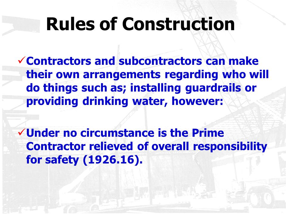 Rules of Construction
