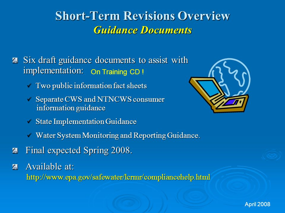 Short-Term Revisions Overview Guidance Documents