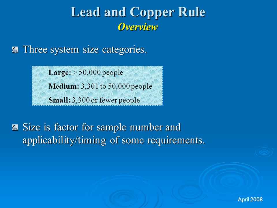 Lead and Copper Rule Overview