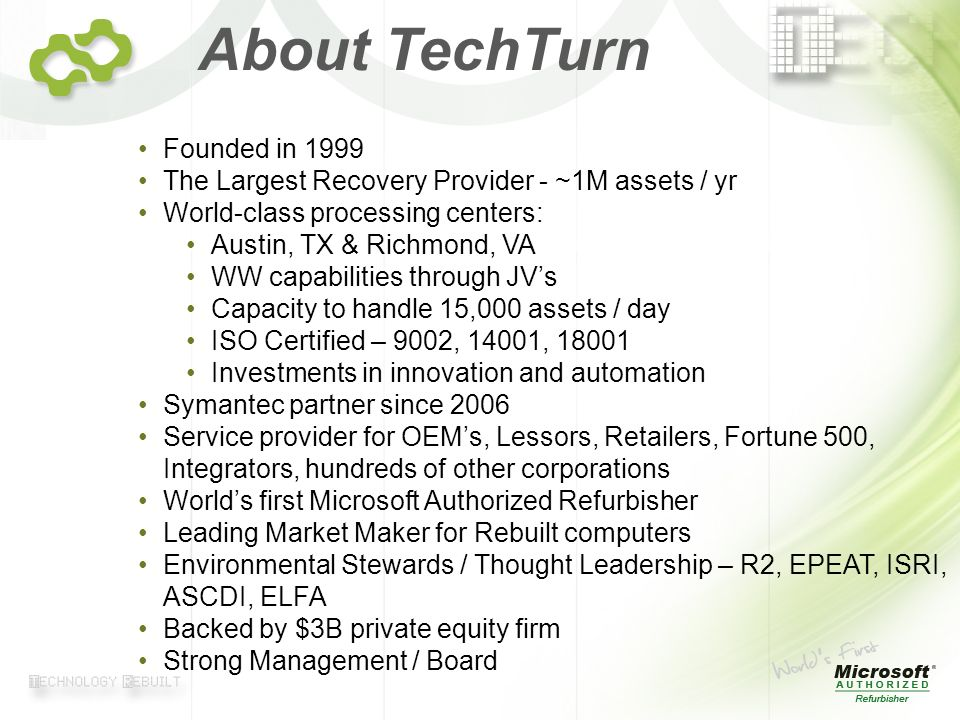 About TechTurn Founded in 1999