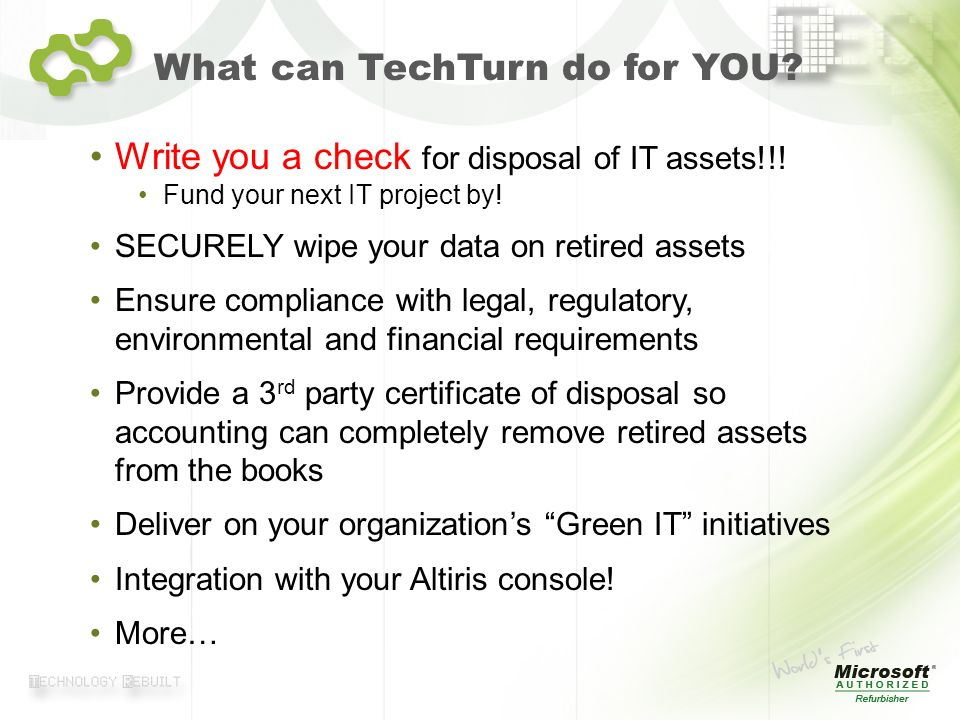 What can TechTurn do for YOU
