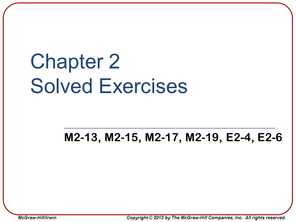 Chapter 2 Solved Exercises