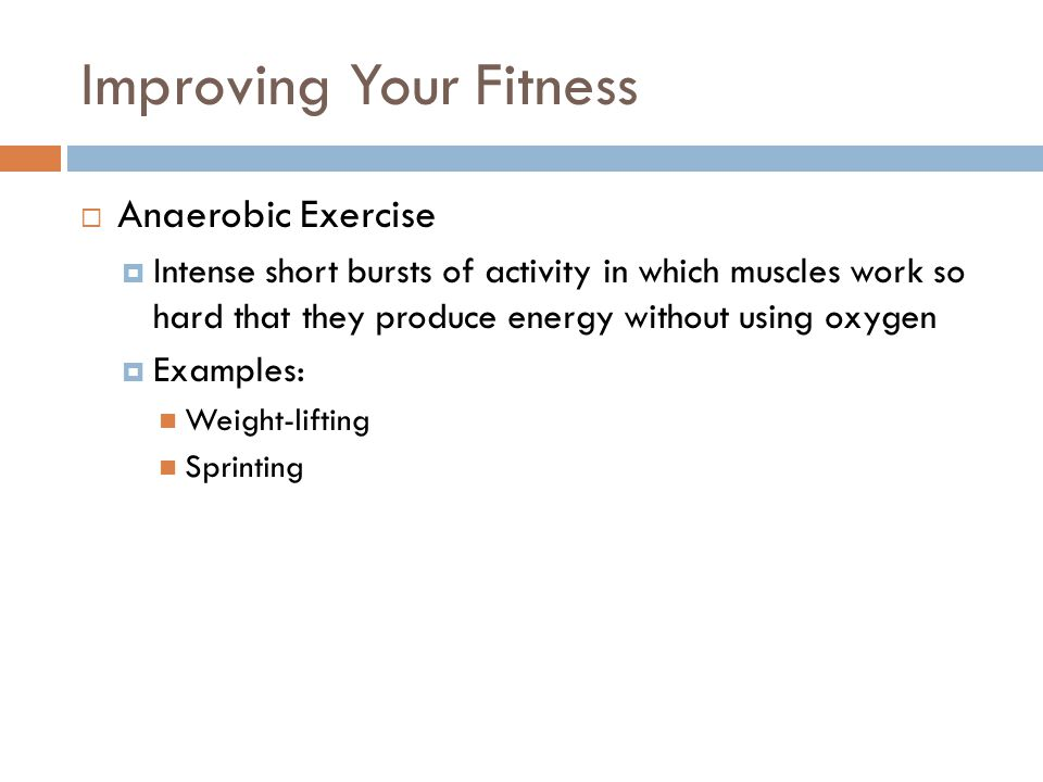 Improving Your Fitness