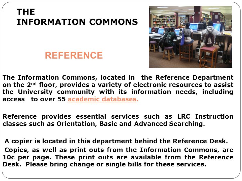 THE INFORMATION COMMONS