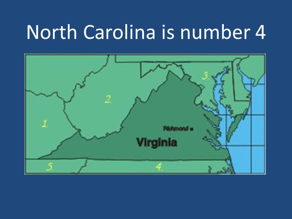 North Carolina is number 4