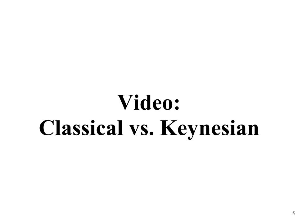 Video: Classical vs. Keynesian