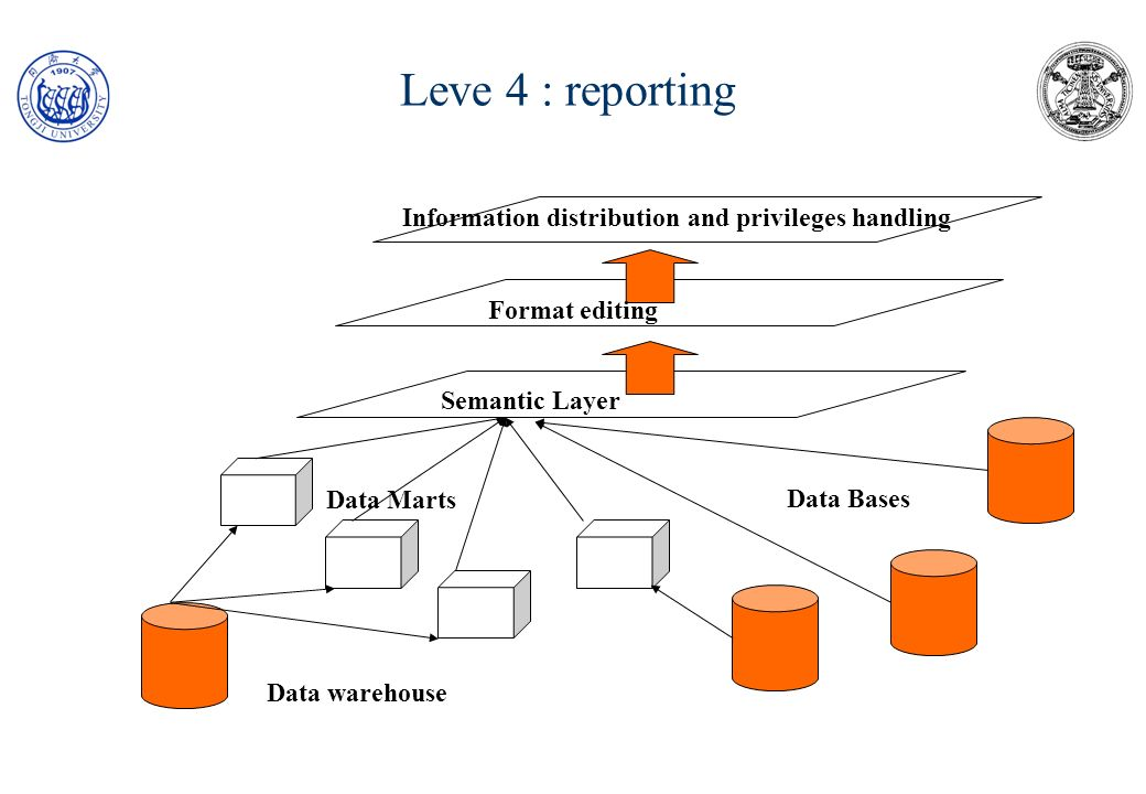 Leve 4 : reporting Information distribution and privileges handling