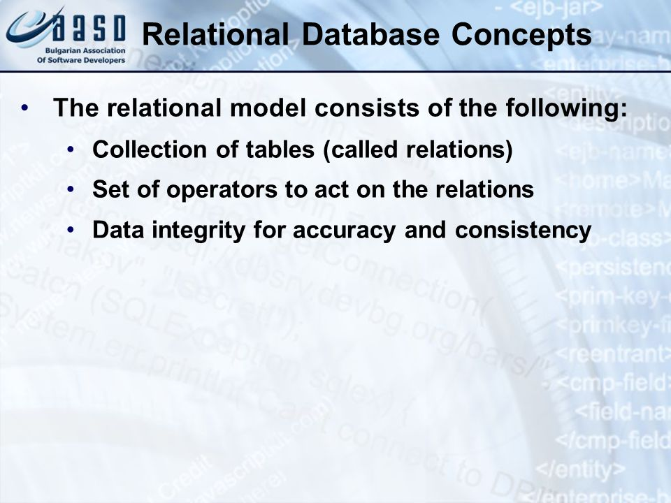 Relational Database Concepts