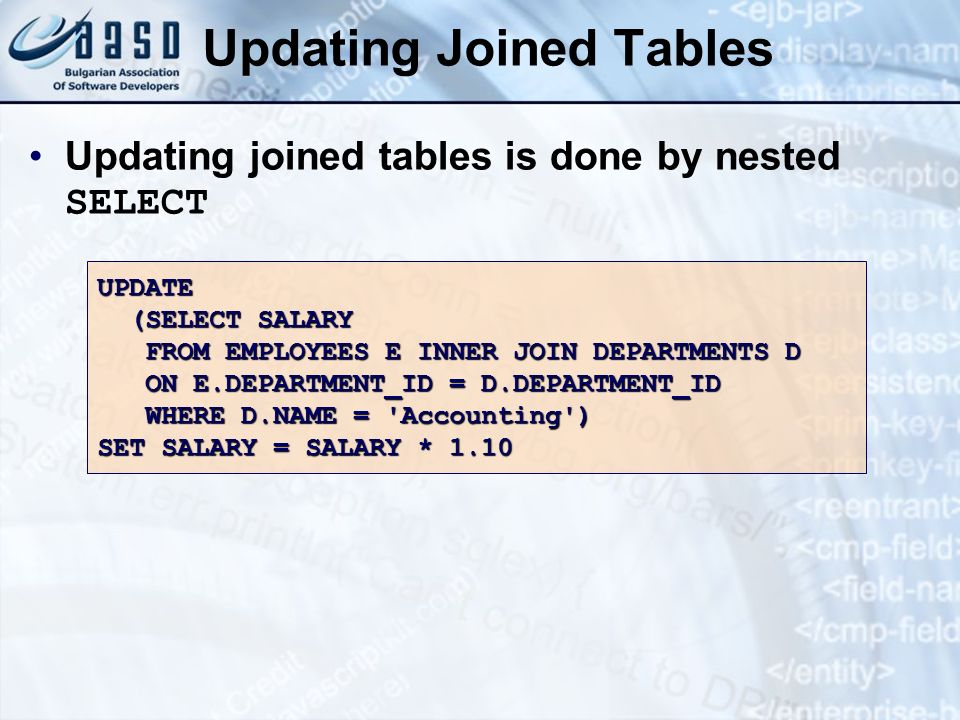 Updating Joined Tables