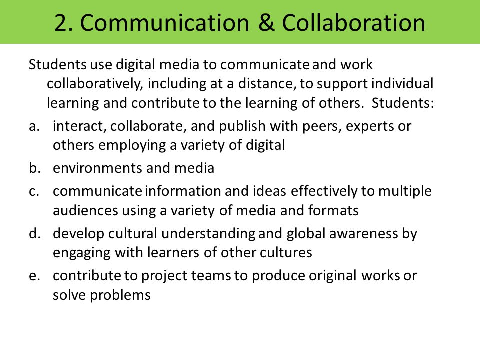2. Communication & Collaboration