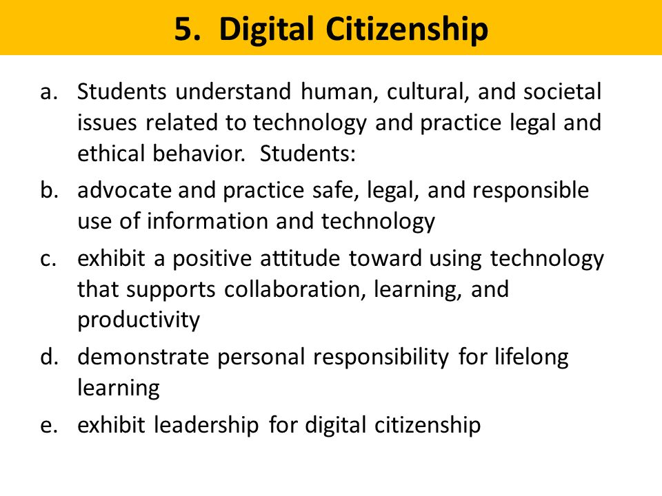 5. Digital Citizenship