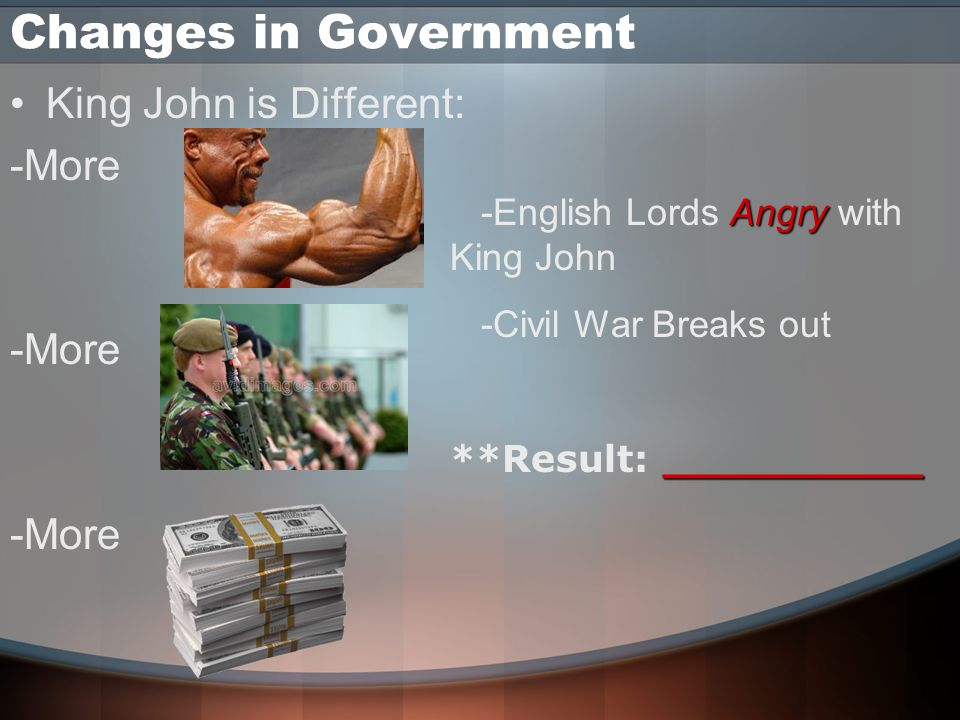 Changes in Government King John is Different: -More