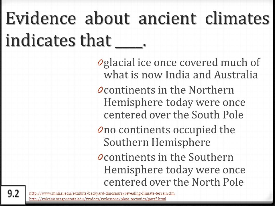 Evidence about ancient climates indicates that ____.