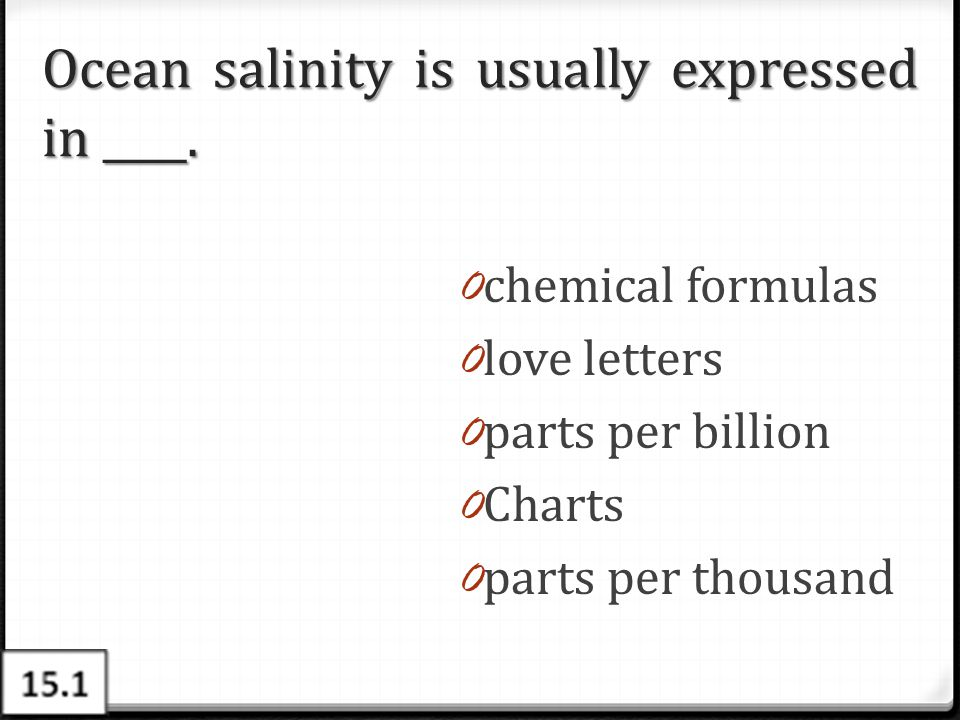 Ocean salinity is usually expressed in ____.
