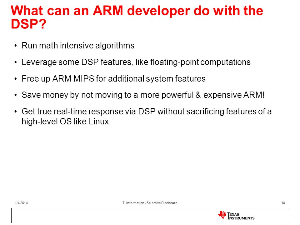 What can an ARM developer do with the DSP