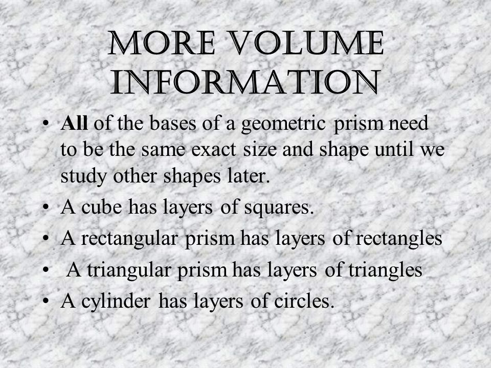 More Volume information