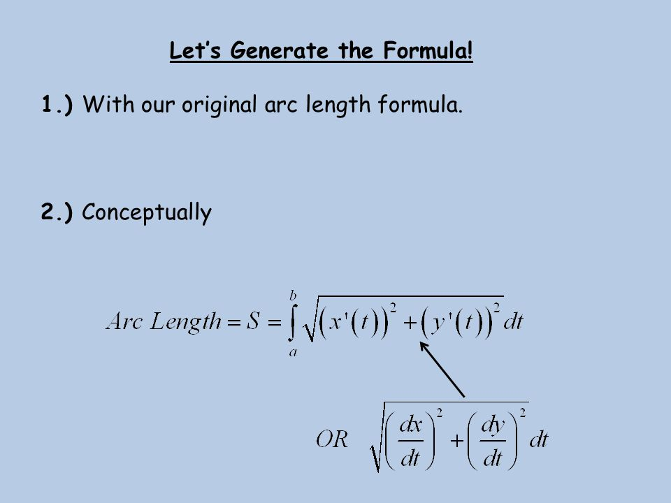 Let's Generate the Formula!