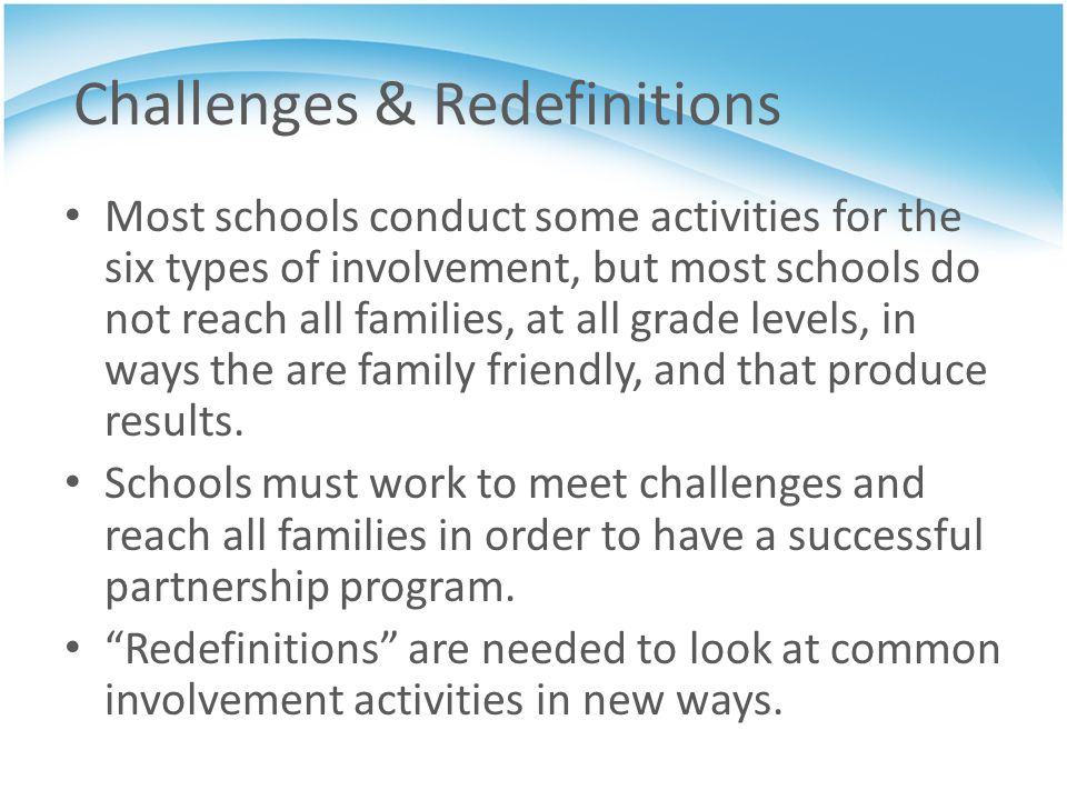 Challenges & Redefinitions
