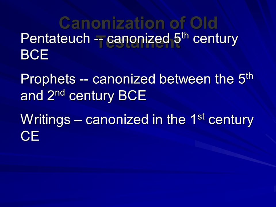 Canonization of Old Testament