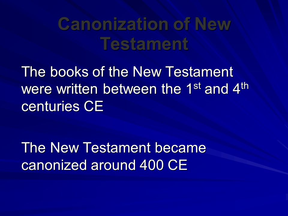 Canonization of New Testament