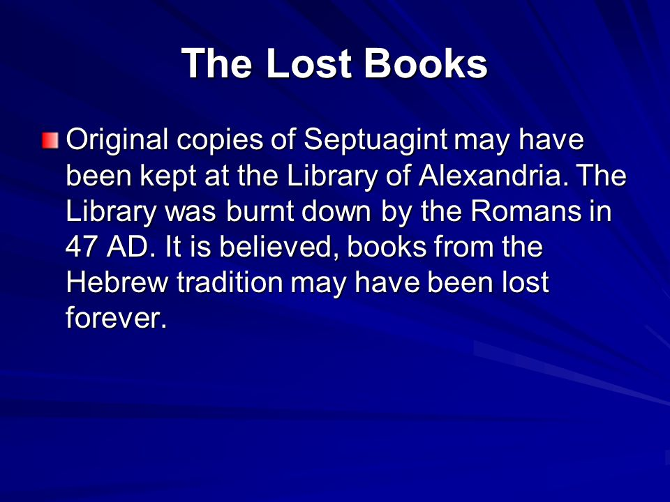 The Lost Books