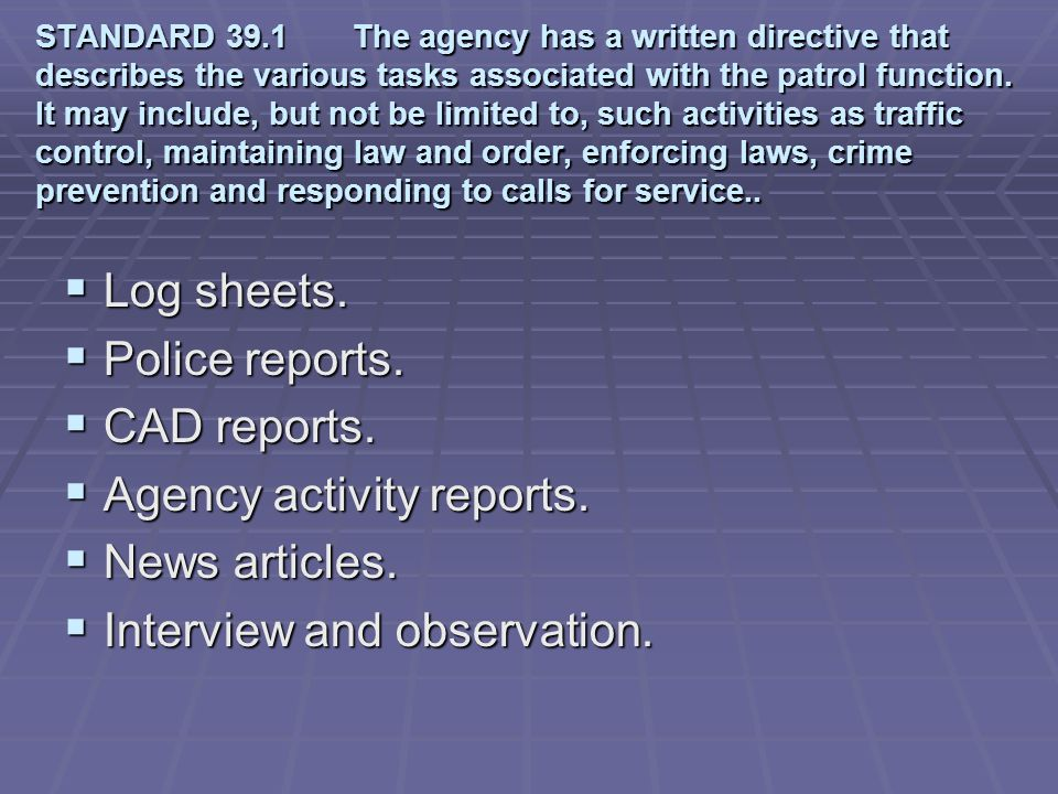 Agency activity reports. News articles. Interview and observation.