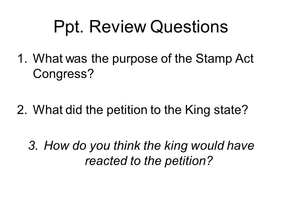 How do you think the king would have reacted to the petition