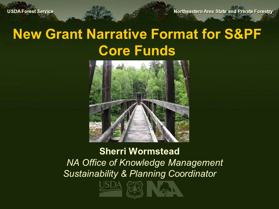 New Grant Narrative Format for S&PF Core Funds