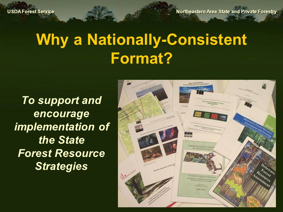 Why a Nationally-Consistent Format
