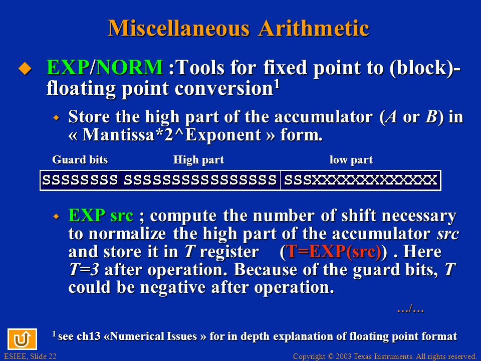 Miscellaneous Arithmetic