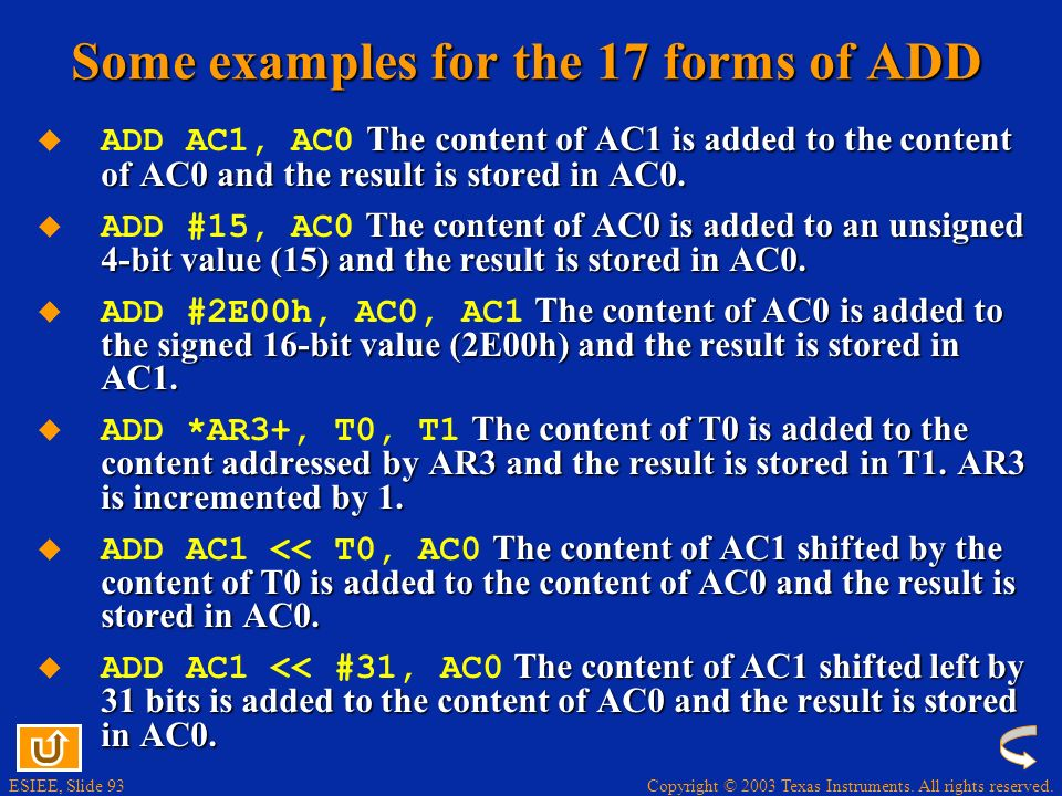 Some examples for the 17 forms of ADD