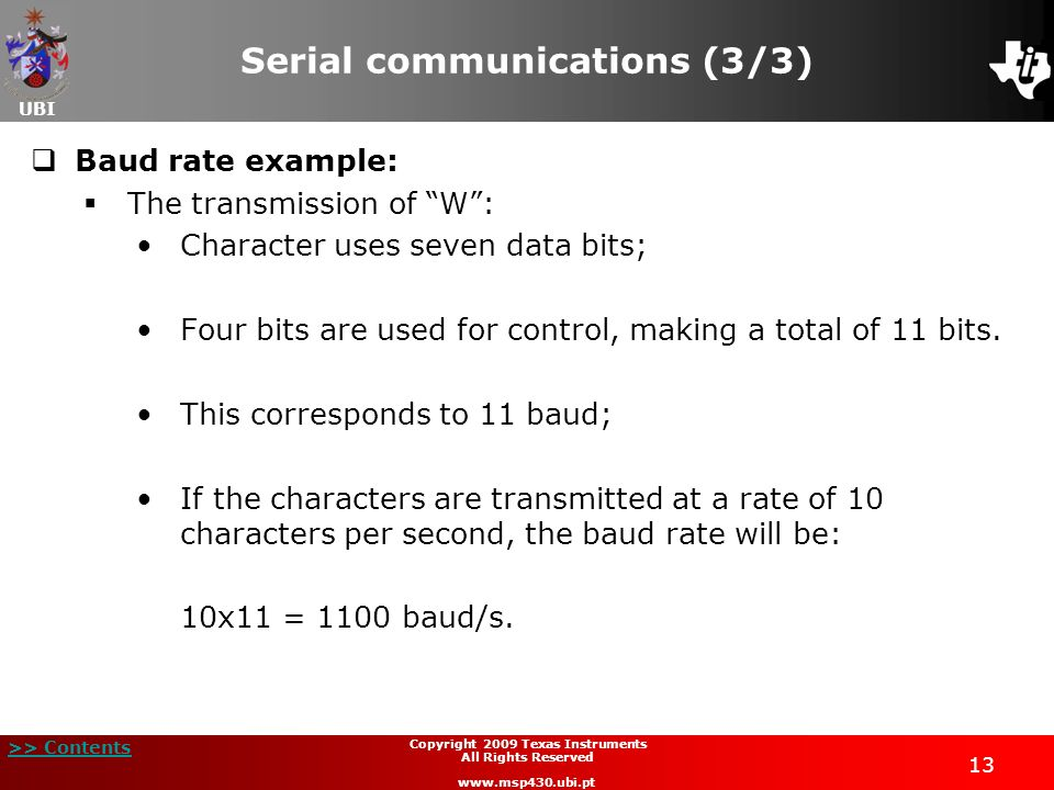 Serial communications (3/3)