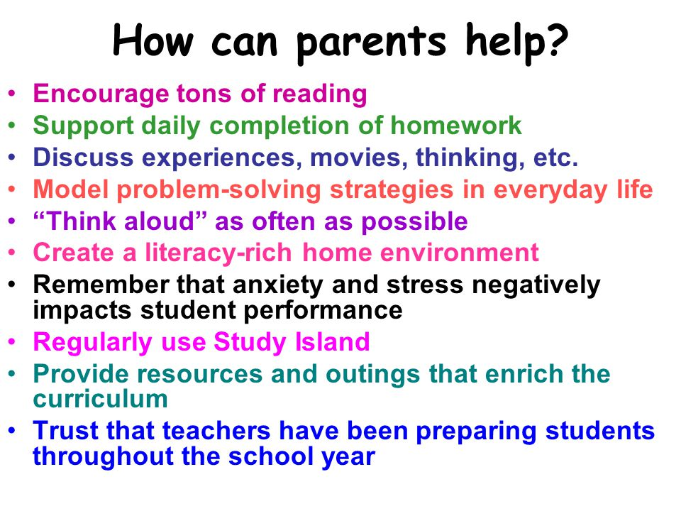 How can parents help Encourage tons of reading