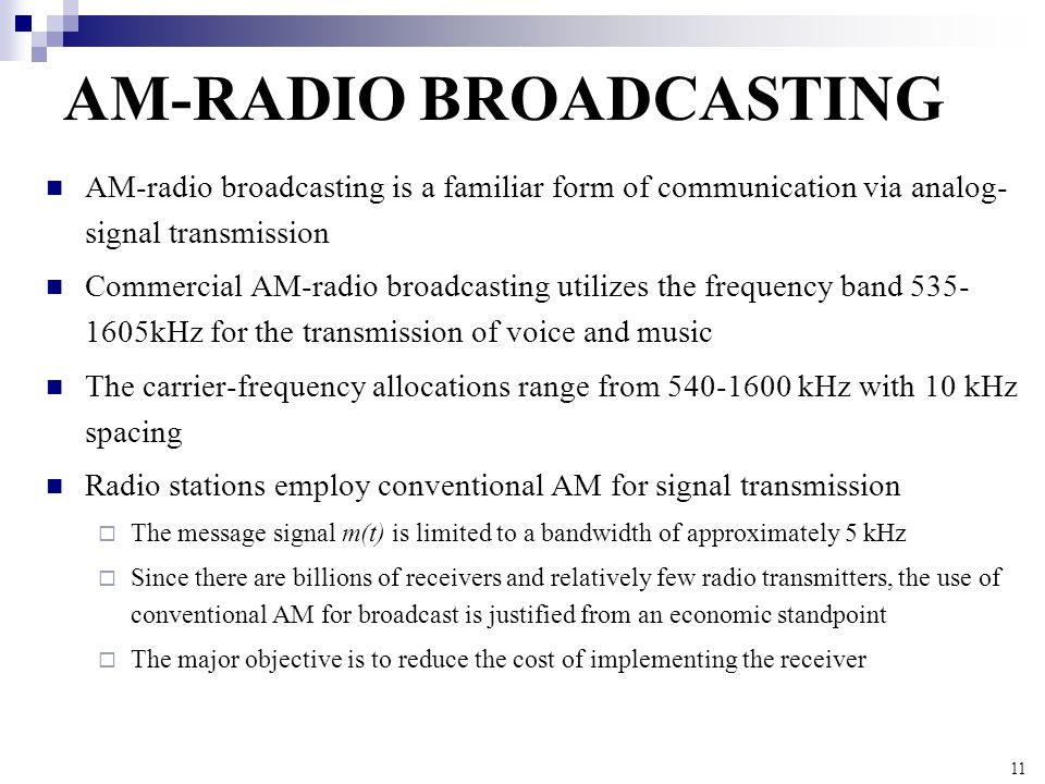 AM-RADIO BROADCASTING