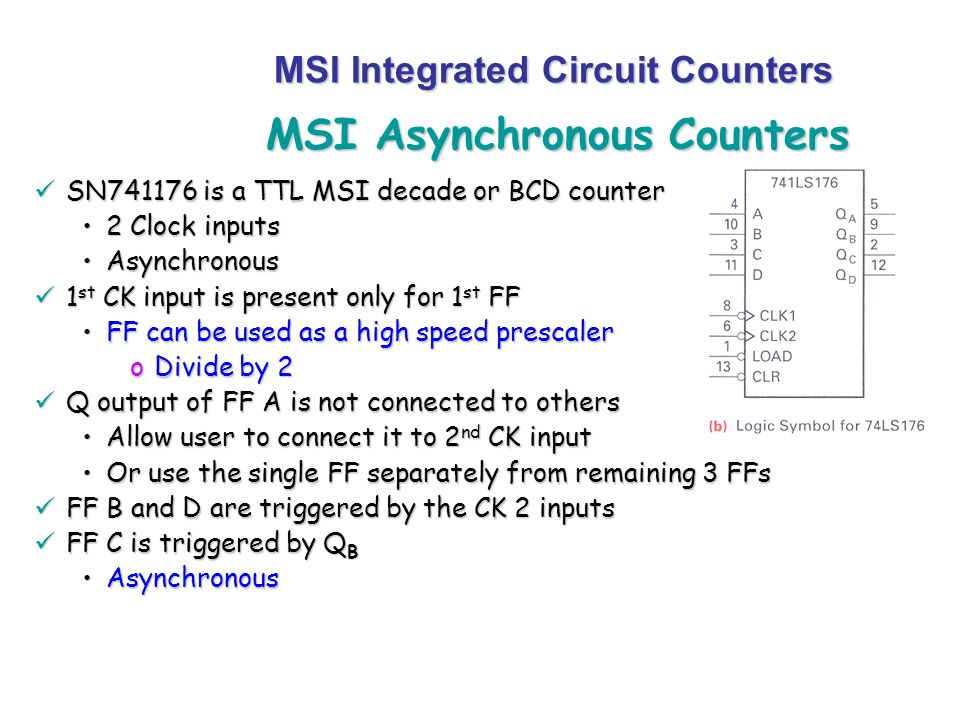 MSI Asynchronous Counters