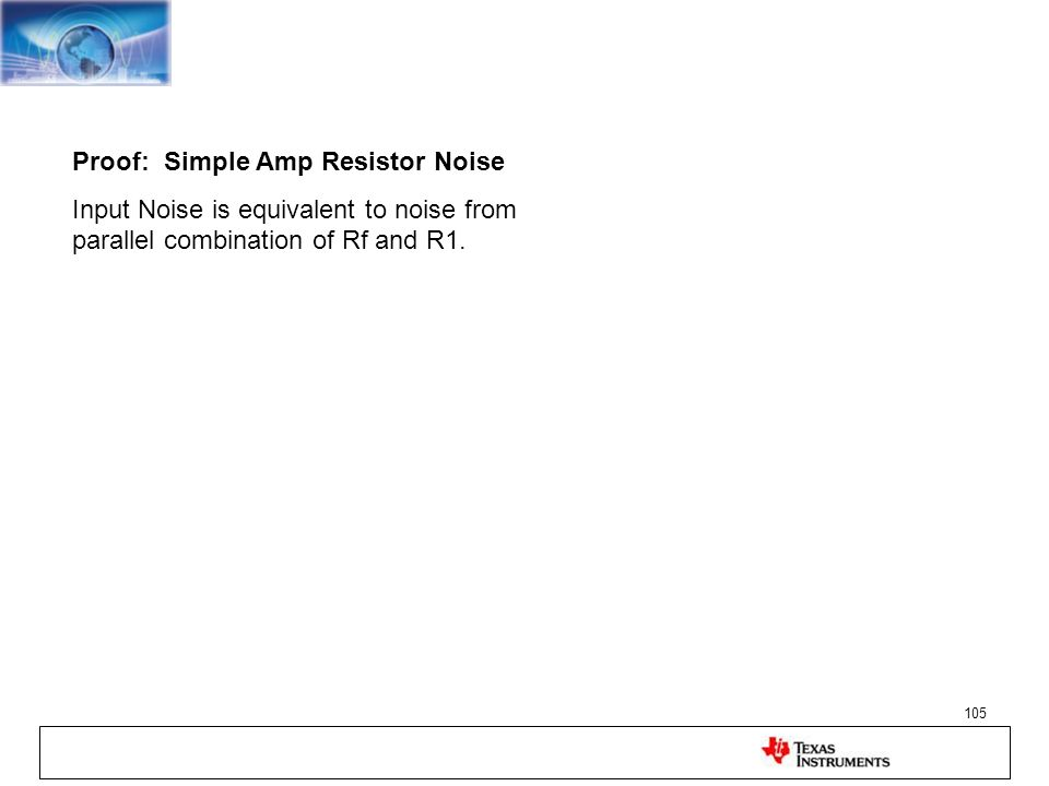 Proof: Simple Amp Resistor Noise