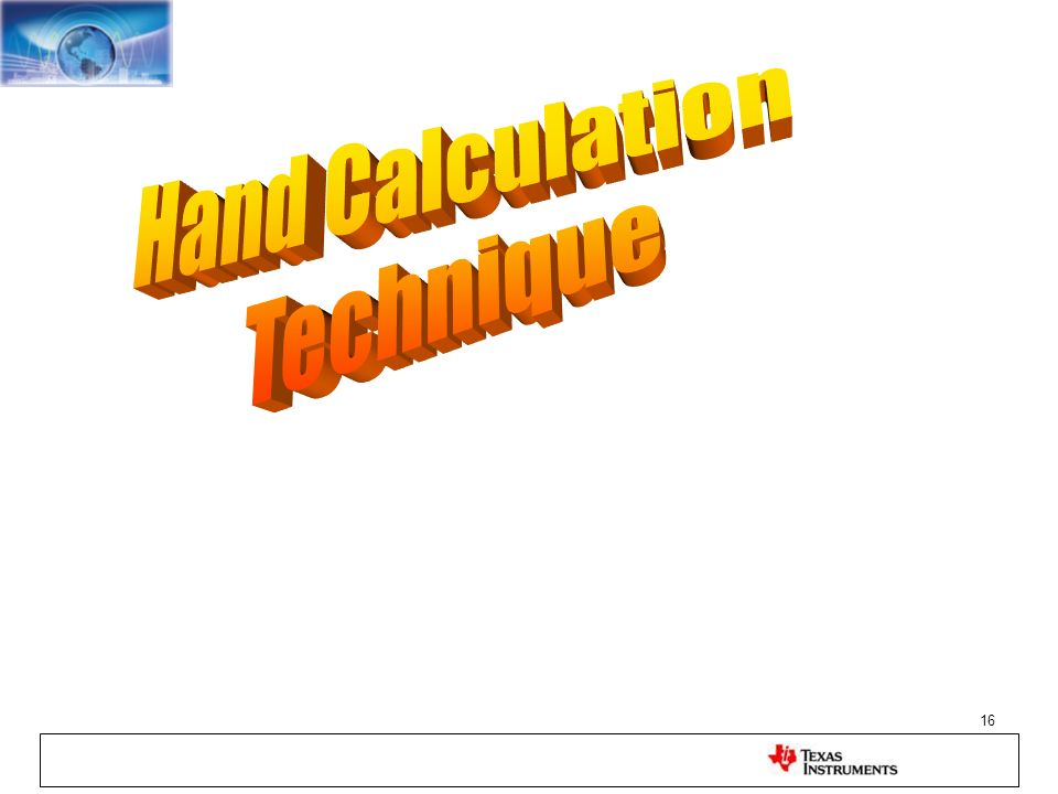 Hand Calculation Technique