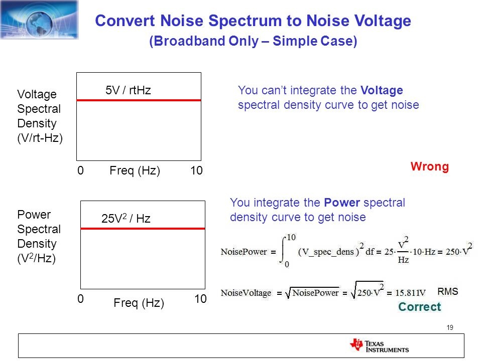 Convert Noise Spectrum to Noise Voltage (Broadband Only – Simple Case)