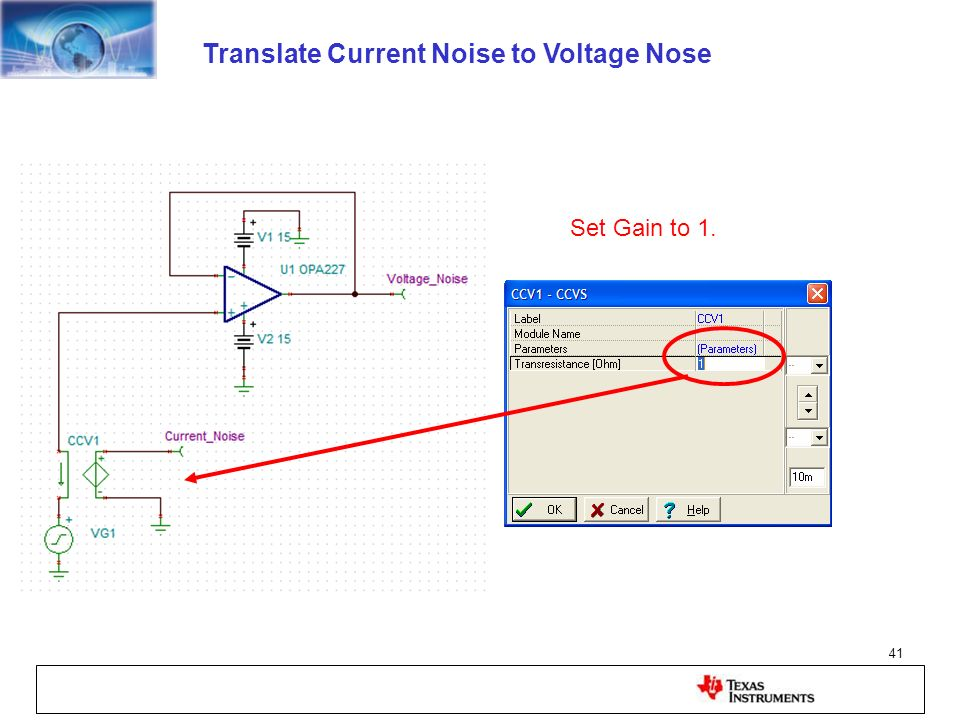 Translate Current Noise to Voltage Nose