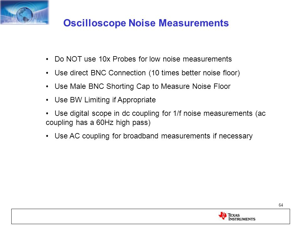 Oscilloscope Noise Measurements
