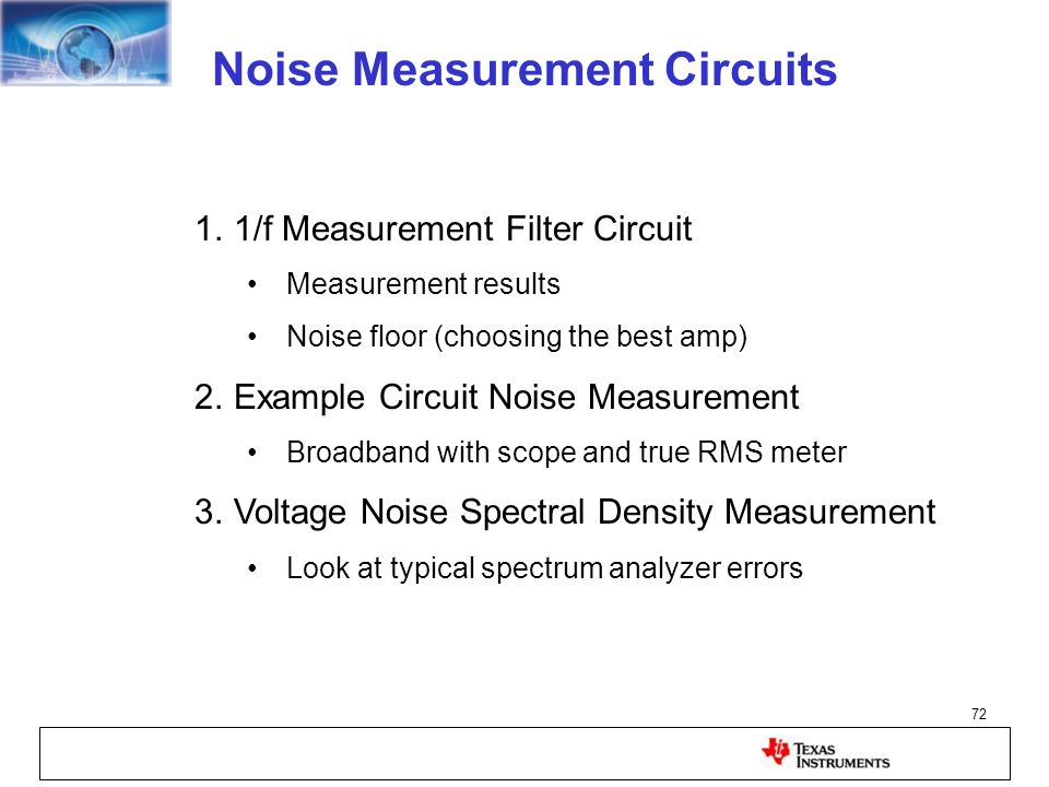 Noise Measurement Circuits